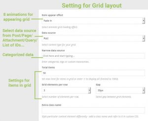 Settings Hover effects for Grid layout