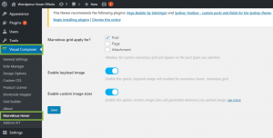 Marvelous Hover effects settings panel